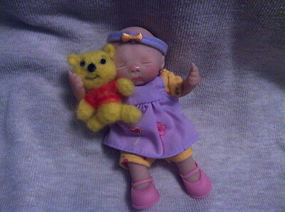 Ooak Polymer Clay Baby Girl Relistic Looking {Baby Victoria 4.5 Inch}