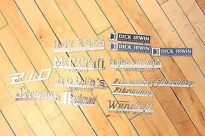 Vintage Part Lot Metal Chrome Car Dealer Chrome Decals Emblem BC Ontario