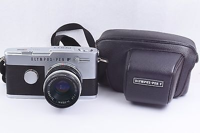 Olympus PEN-FT body with F.Zuiko Auto-S 38mm F 1.8 Lens , case