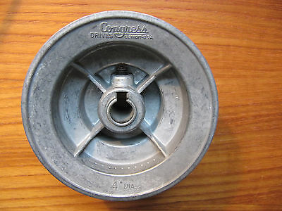 "Congress Detroit USA 3 Step Three Speed 4"" Pulley for 1/2-5/8 Shafted Machines"