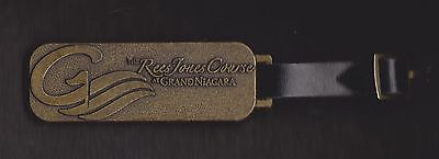 Gold Bag Tag From The Rees Jones Course At Grand Niagara, Niagara Falls