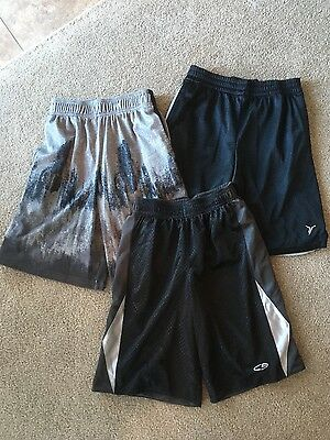 Lot of 3 Boy's Black Athletic Shorts size M