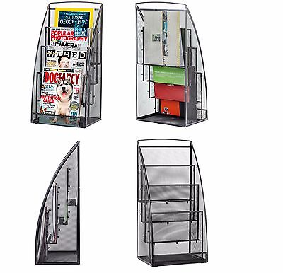 Free Standing Magazine Rack For Home Reading Comic Book Stand Office Room Store