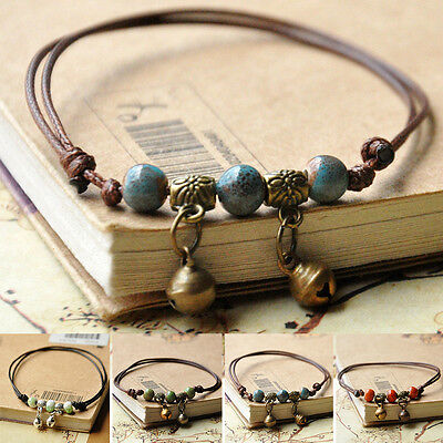 Ethnic Women Jewelry Artificial Ceramic Beads Anklet Ankle Bracelet Foot Chain