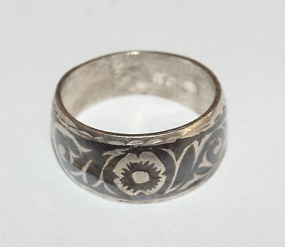 Incredible Vintage Soviet Era Ring Silver 875 USSR Antique size 6