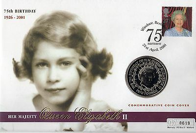 Queen's 75th Birthday Coin Cover 619