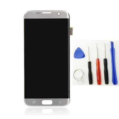 For Samsung Galaxy S7 Edge Silver LCD Display Touch Screen Digitizer Assembly US