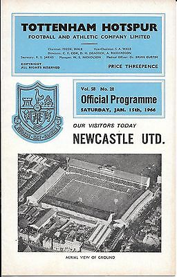 1966 Tottenham Hotspur V Newcastle United - Division One - Official Programme