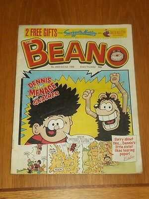 Beano #2933 3Rd October 1998 British Weekly