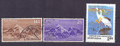 1054. India 1953 used stamps conquest of Everest