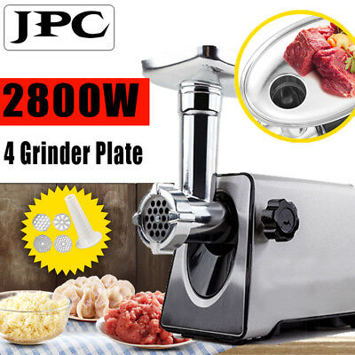 Luxury Stainless Steel 2800W Electric Meat Grinder Mincer Sausage Stuffer Silver