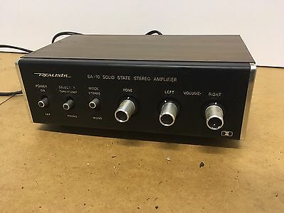 Vintage Realistic SA-10 Solid State Stereo Amplifier *untested*