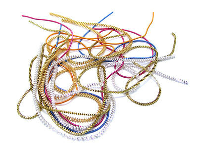 Assorted Tanaka Bouillon Crinkle Craft Modelling Wire (5x 40cm Lengths)