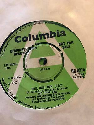 The Third Rail Run Run Run Rare 60S Psychy Demo 45