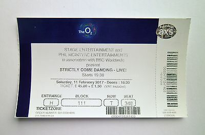 STRICTLY COME DANCING TICKETS The O2 Arena London 11/02/17 Ticket / Memorabilia