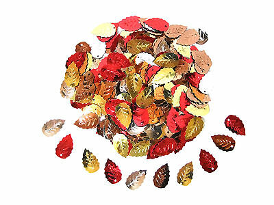 Mixed Leaf Sequins | Choice of Pack Sizes | High Quality Embossed Design