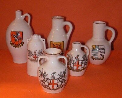 Goss Crested China Kent,London (3) , Pevensey,Bognor Crests