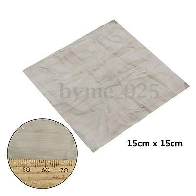 500 Mesh 25 Micron 316 Stainless Steel Wire Cloth Screen Square Sheet 6x 6''