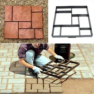 51cm Garden DIY Plastic Path Maker Model Road Paving Cement Mould Brick Stone