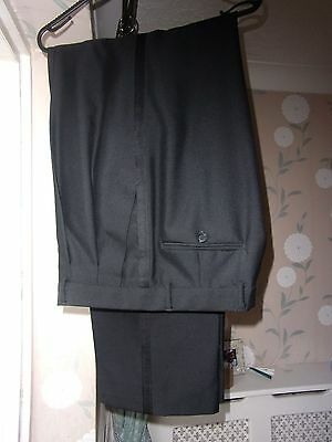 Mens Ex cond Wool Blend Tuxedo Dinner Suit Formal Trousers W34 - L33