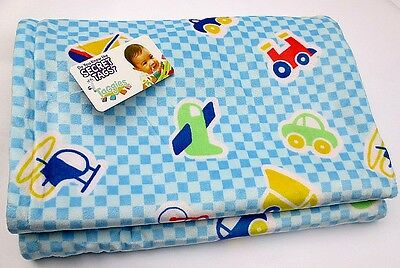 Newborn Baby Toddler Kid Child Taggies Plush Blanket Quilt Covers - planes&cars