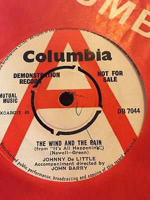 Johnny De Little / John Barry Rare Demo The Wind And The Rain Uk 45