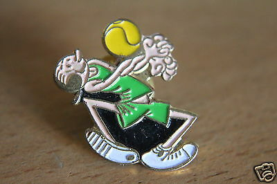 vintage Popeye the sailor man wife olive oil play volleyball Enamel Pin badge.