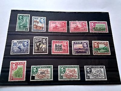 Nice set of Fiji 1938 -1955 Stamps Unused but lightly hinged