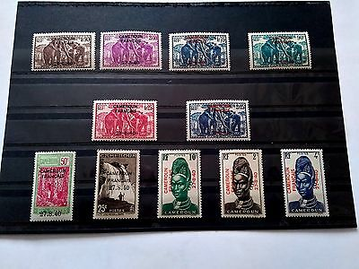 Nice set of Cameroon 1925 - 1940 French Overprint Stamps Unused / lightly hinged