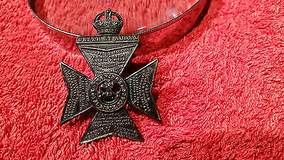 First World War Blackened Cap Badge to the King's Royal Rifle Corps