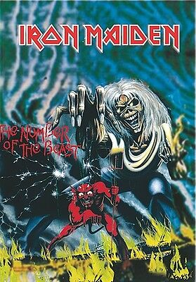 Iron Maiden Number Of The Beast large fabric poster / flag 1100mm x 700mm (mm)