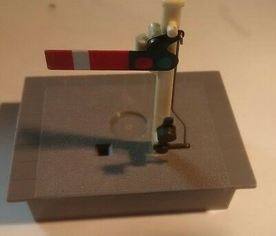 Hornby short platform end with medium 'away' signal