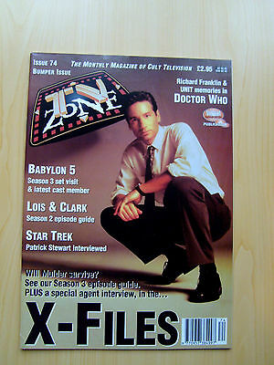 Tv Zone Uk Magazine Issue #74 - The X-Files Featured Edition January 1996