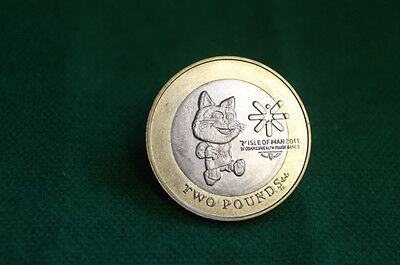 Isle Of Man £2 Commonwealth Youth Games 2011 Circulated