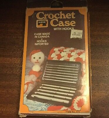 Vintage Crochet Case With Hooks From Eatons Case Made in Canada