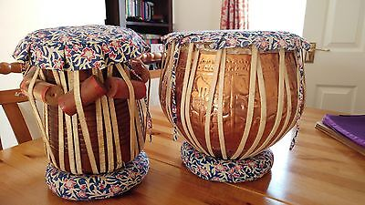 tabla drums with case and hammer