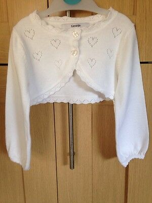 George Baby Girls Pretty Cardigan Age 12-18 Months Excellent Condition