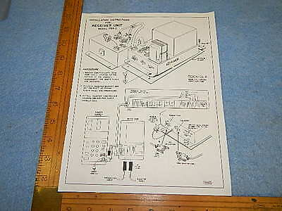 Rock-ola stepper 1765-2 Schematic Diagram and Installation Instructions, reprint