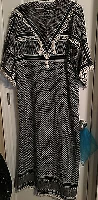 Indian Cotton Ladies Long dress for Lounging Size L