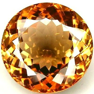 NATURAL AWESOME AAA ORANGE TOPAZ LOOSE GEMSTONES (11.1 mm) ROUND SHAPE