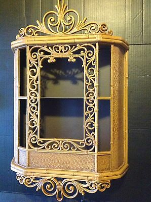 Vintage Homco Syroco Molded Resin Curio Cabinet Wall Shelves #3609