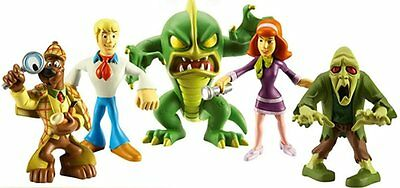 Scooby Doo & The Monsters 5 x Figure Set with Fred Daphne & Monsters Toy New 3+