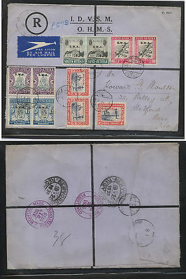 South West Africa registered cover to US  1936 B1-4, O14        KL0306