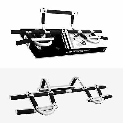 Door Gym Bar Chin Ups Pull Ups Sit Up Home Fitness Exercise Iron Man Bar - White