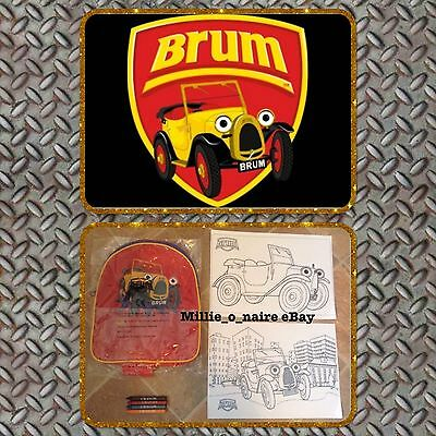 BRUM The Car OFFICIAL Rucksack Backpack,School Bag BRAND NEW + FREE GIFTS!! ��