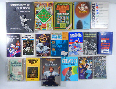 Lot of (35) 1960's 1970's and 1980's Sports Paperback / Hardcover Books