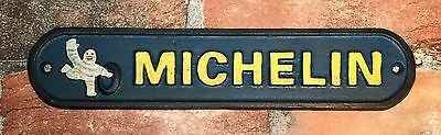 Michelin Tires Cast Iron Metal Advertising Wall Plaque Sign