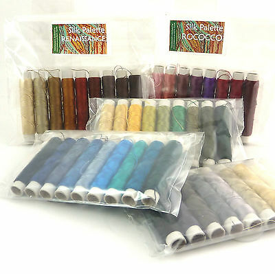 Pure Silk Thread, Real Silk, Embroidery, Weaving,Machine Embroidery 9 x 50m Pack