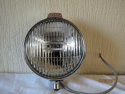 Lucas FT6 Fog lamp, chrome, new condition, never fitted, tested, fully working.