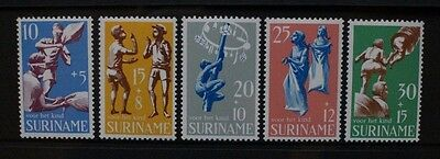 SURINAME 1969 Child Welfare. Set of 5. Mint Never Hinged. SG658/662.